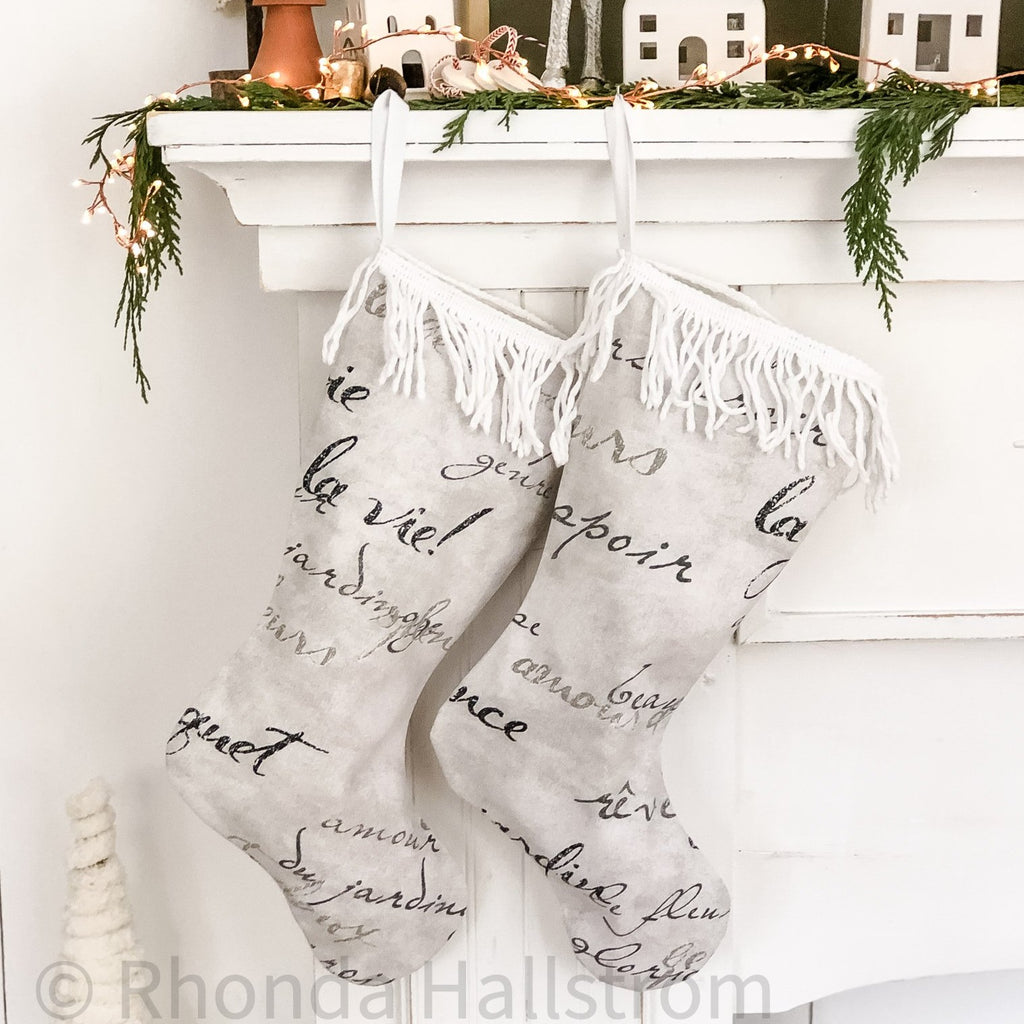 french christmas stocking
