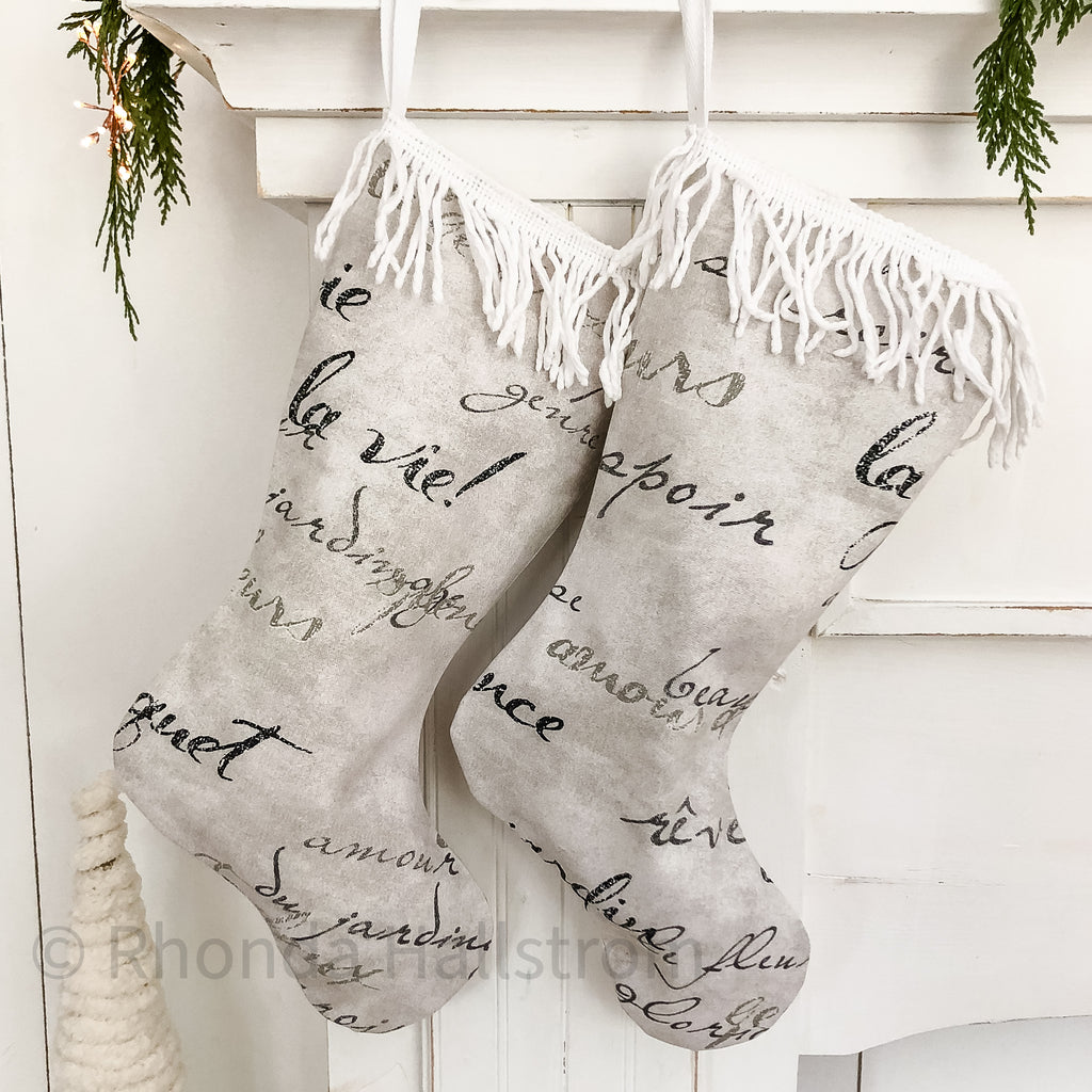 French Fringe Christmas Stocking