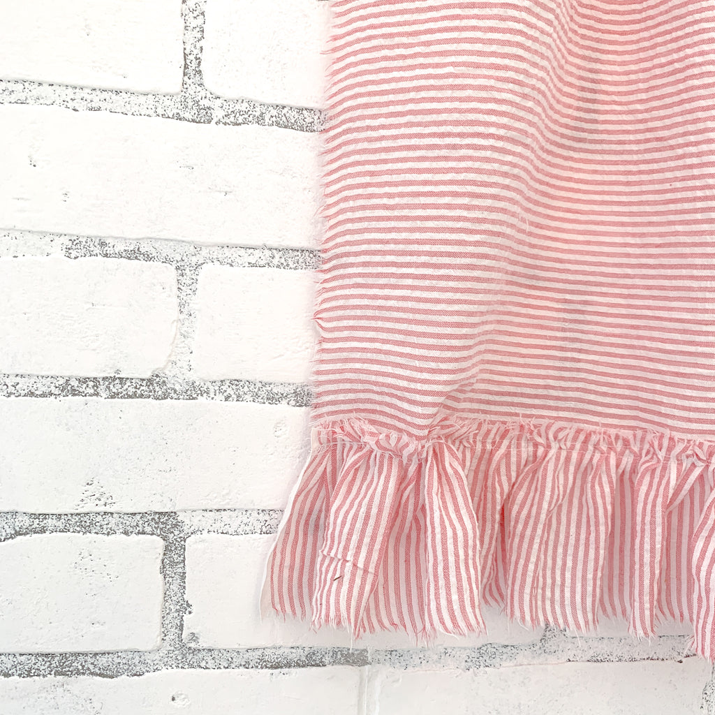 ticking stripe tea towel