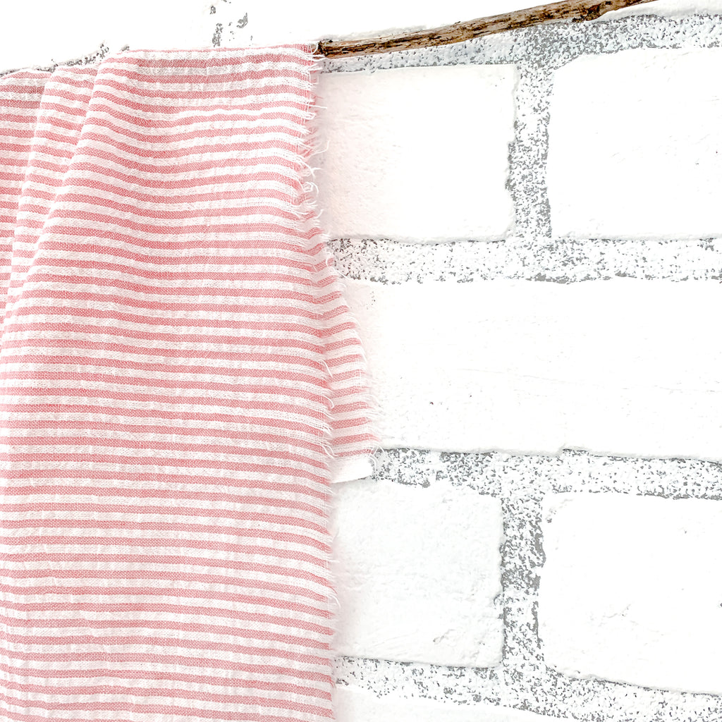 frayed ticking stripe