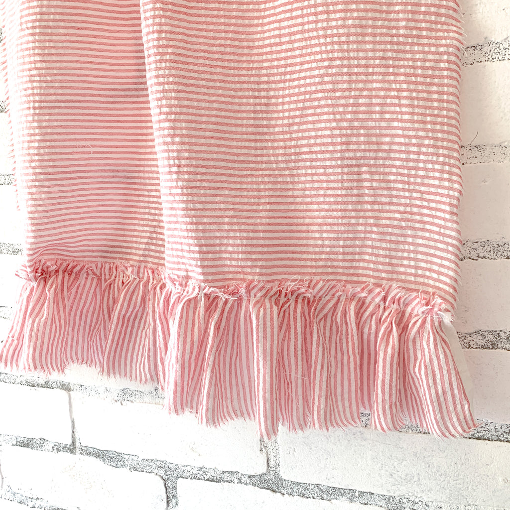 ruffle ticking stripe
