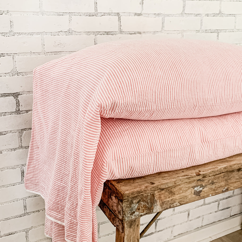 ticking stripe bed pillow