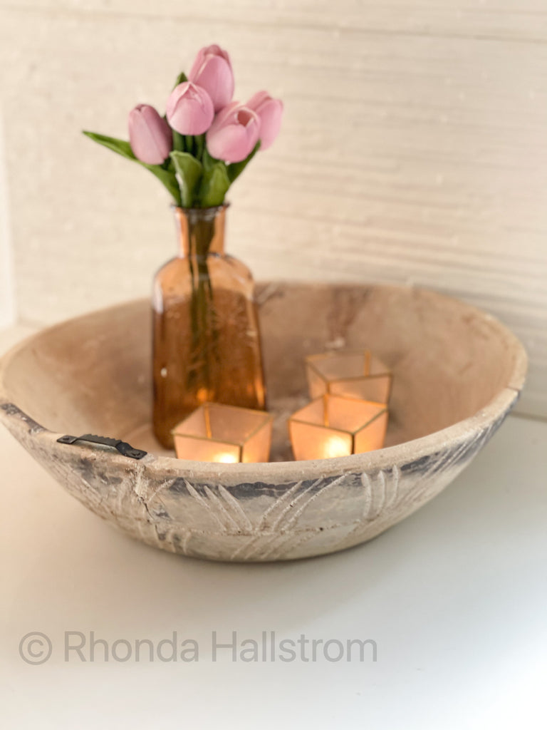 Distressed Vintage Bowl Wall Hanging