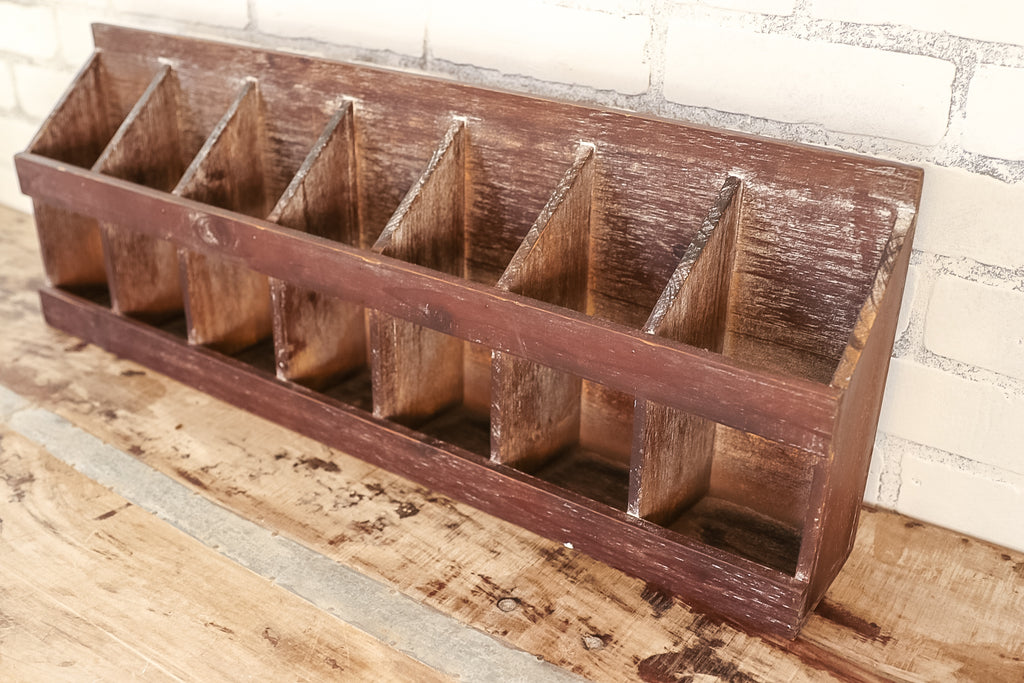wood wall shelf rack