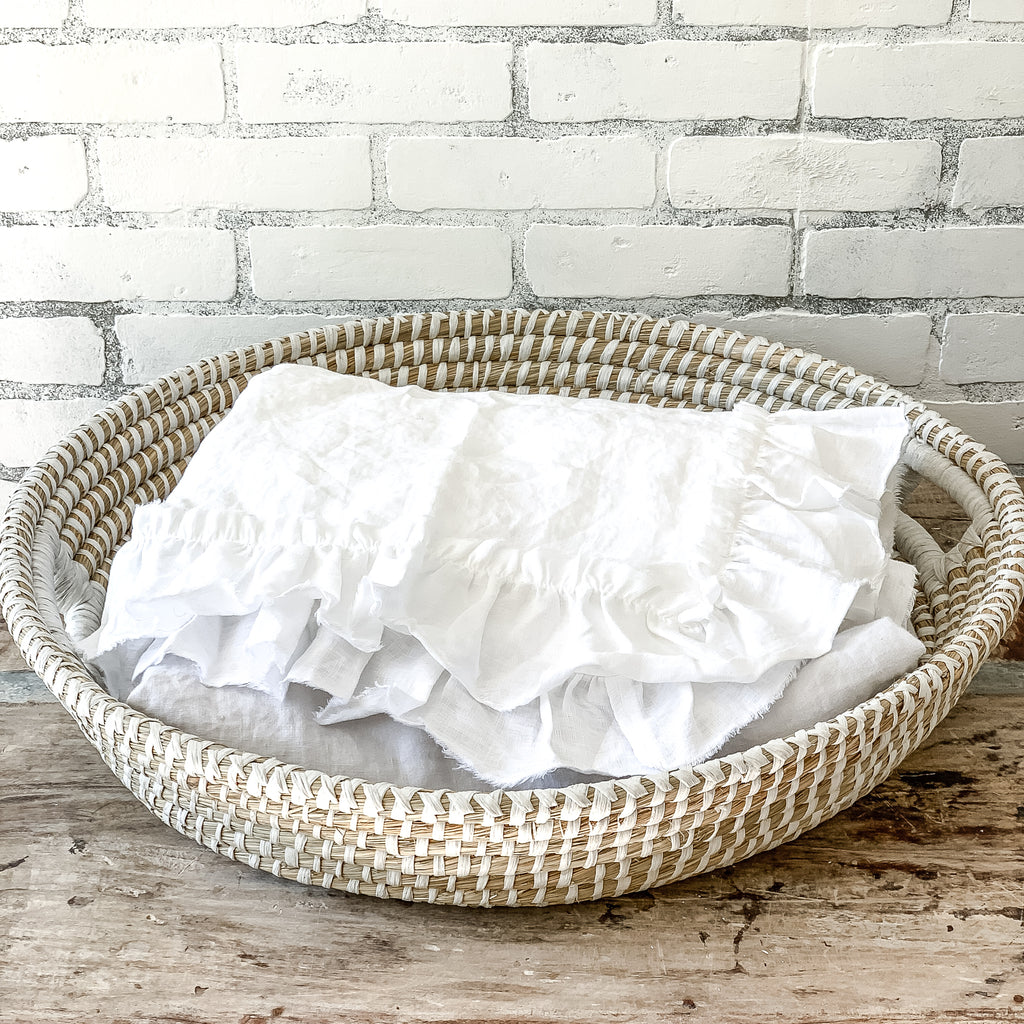 Large Round Farmhouse Basket