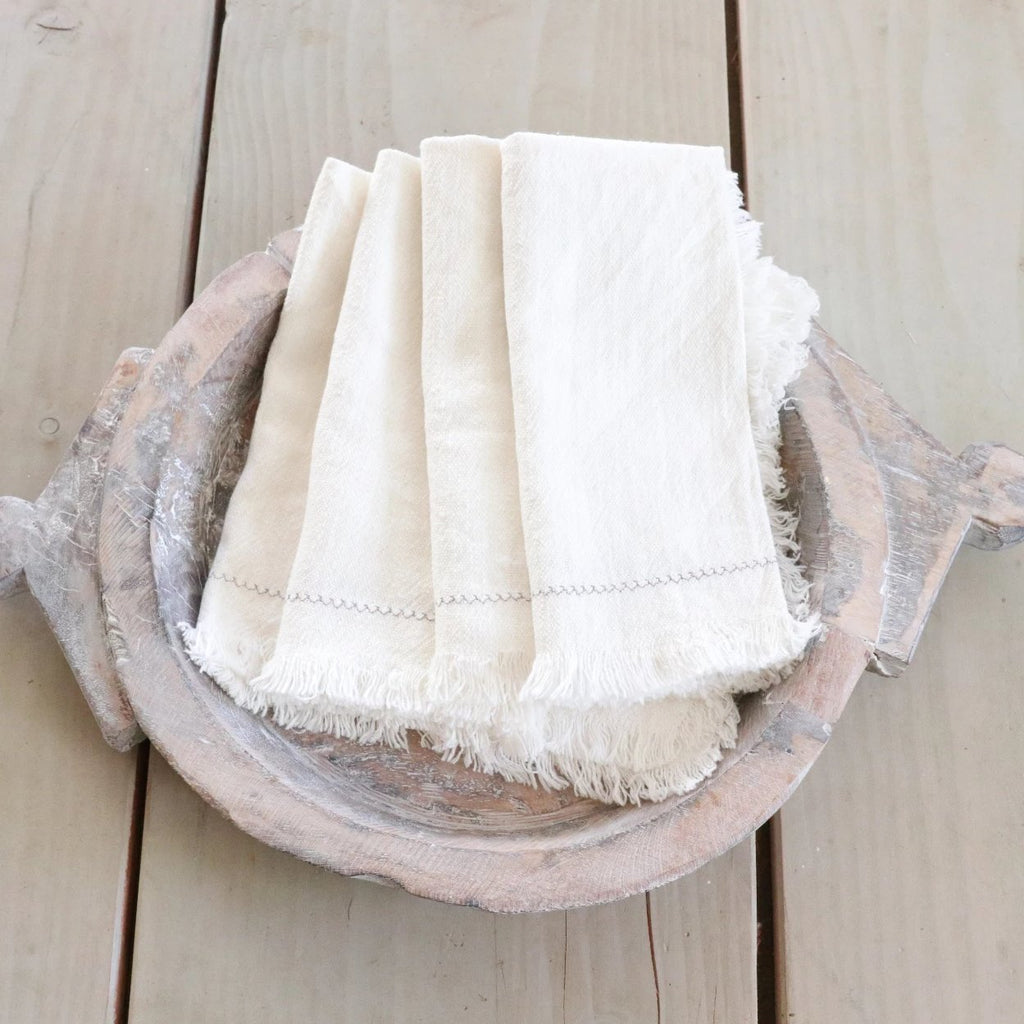 Set of 4 White Napkins