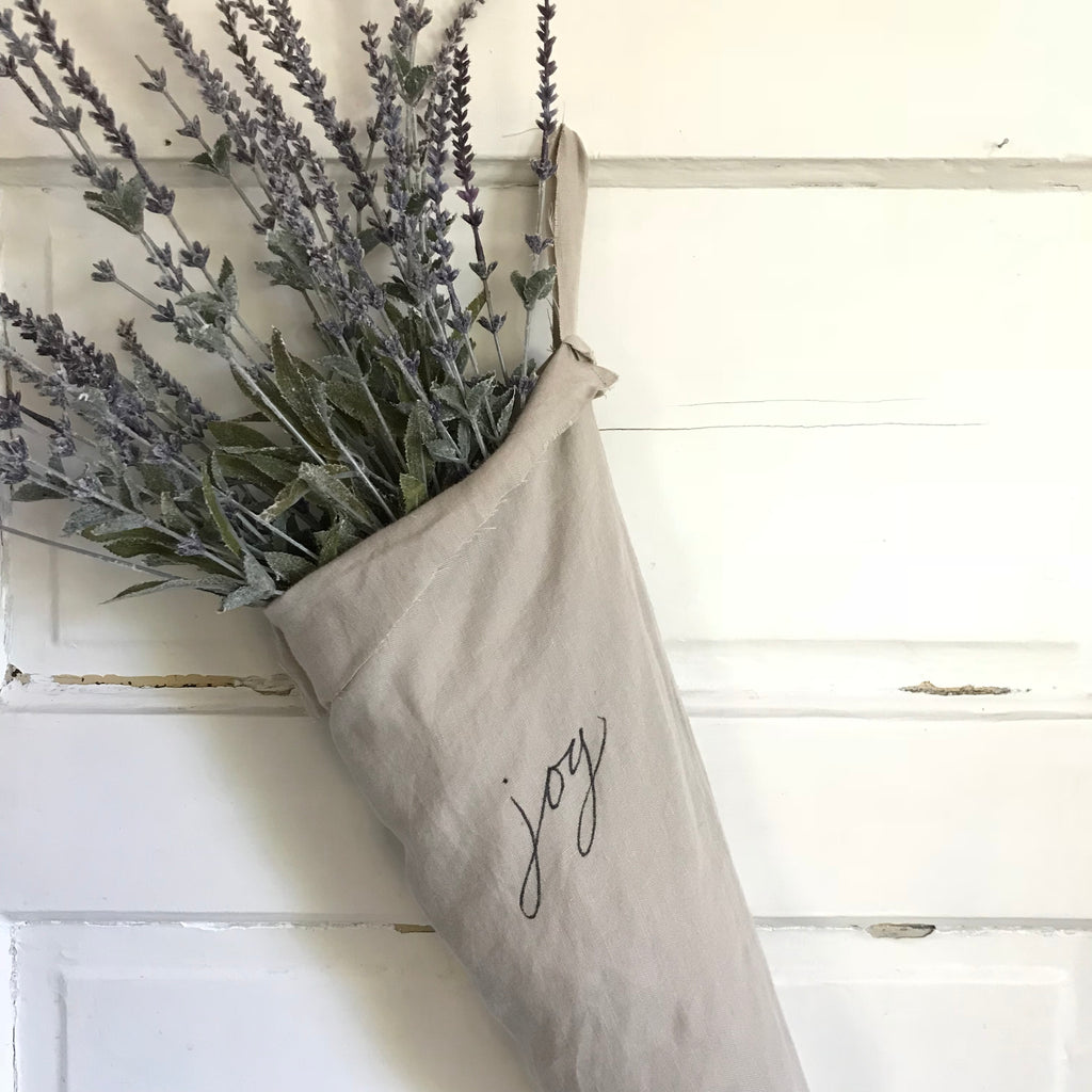Linen Christmas Stocking