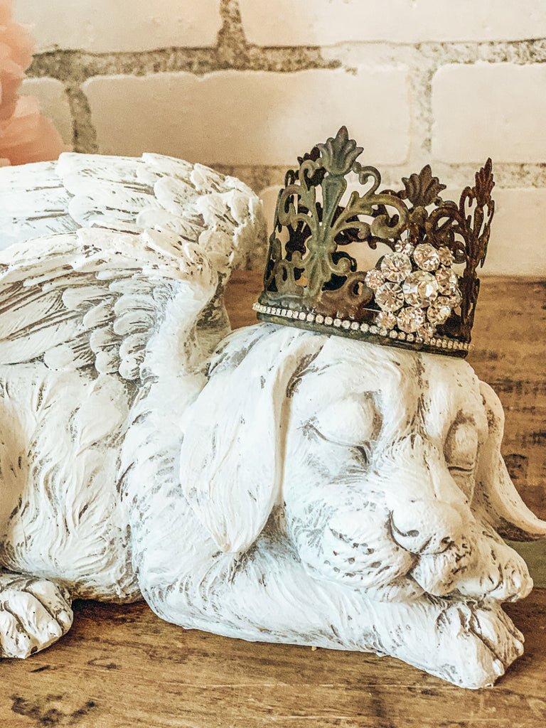 Dog Angel Statue