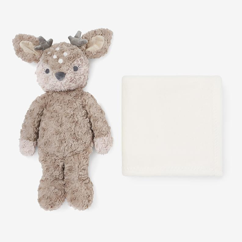 Plush Fawn Toy and Blanket