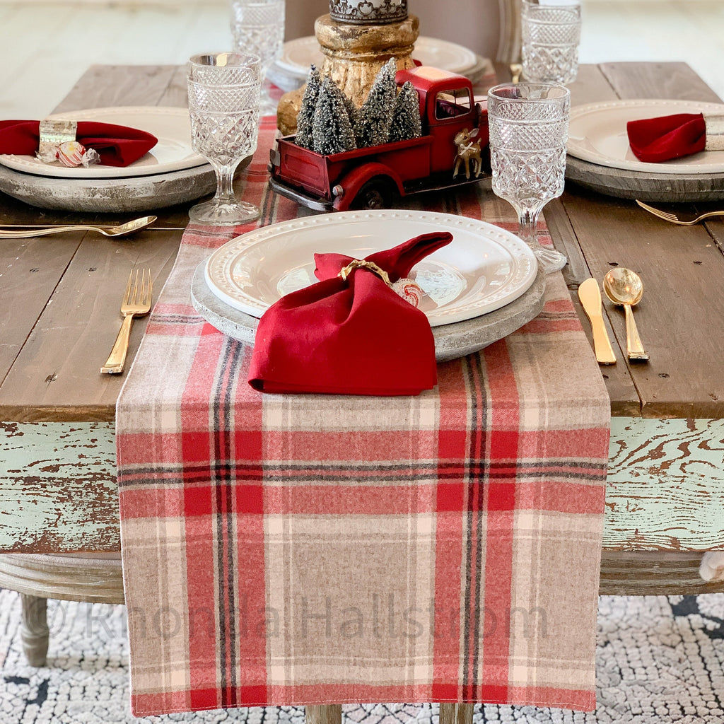 Pendleton Wool Christmas Table Runner Long Farmhouse Country Table