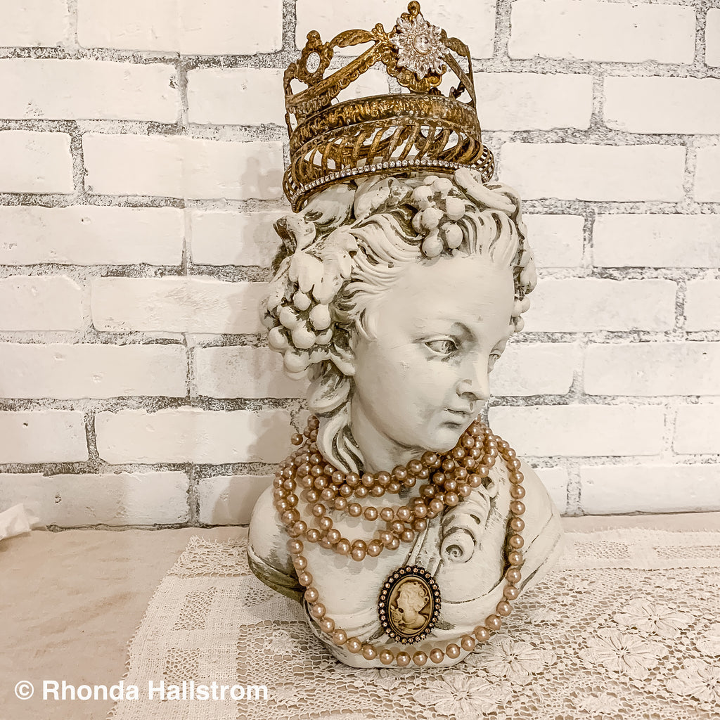 French Bust with Jewel Crown