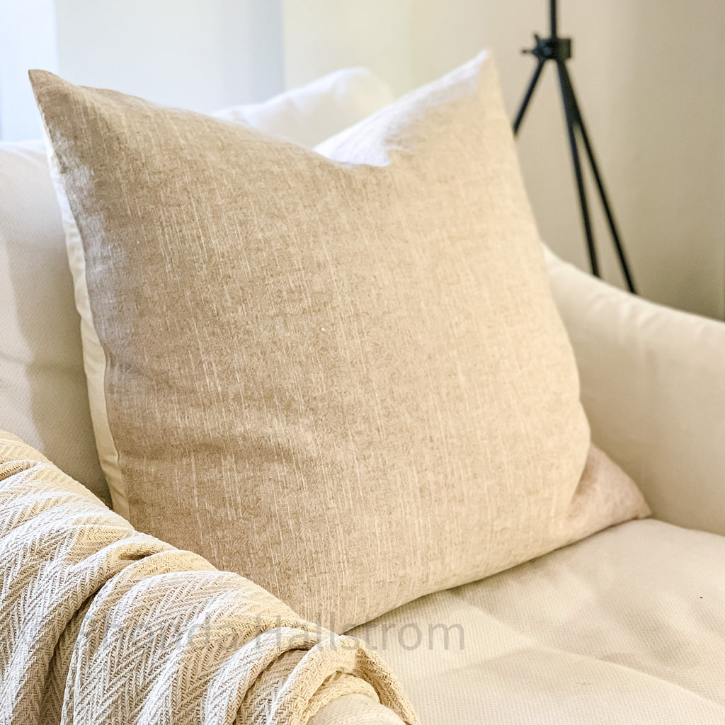 flax linen euro pillow