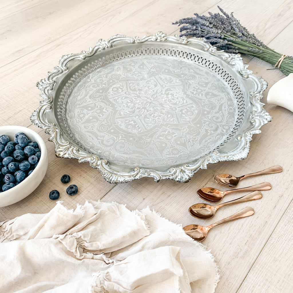 French Antique Silver Tray
