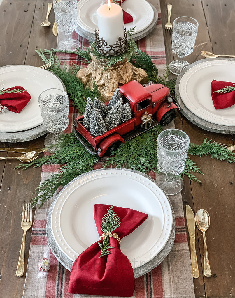 Pendleton Wool Christmas Table Runner Long