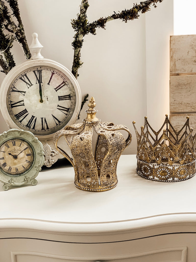 French Gold Crown Decor