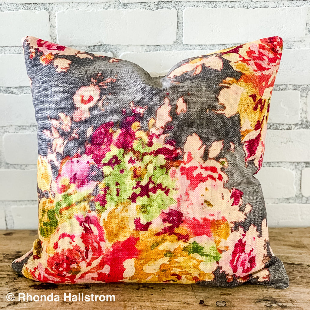 sell on etsy ebook fall floral pillow