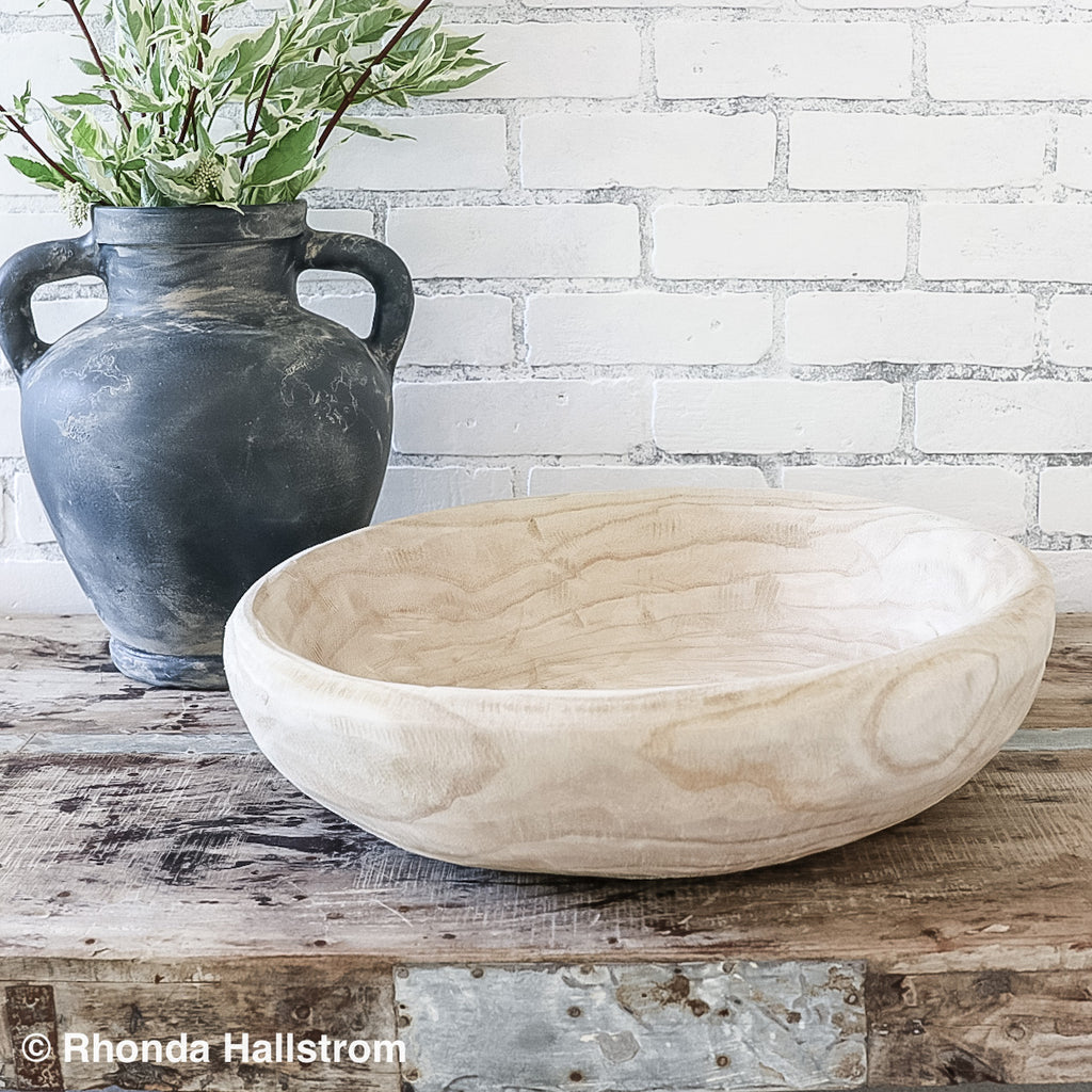 Natural Wood Bowl/Large Serving Bowl