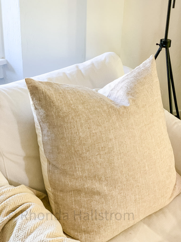 Flax Linen Pillow Euro