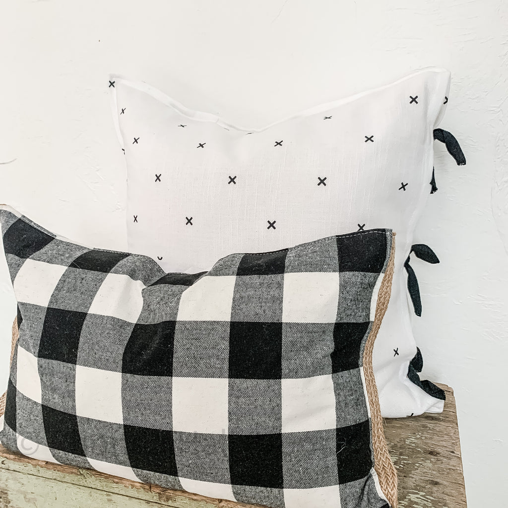 swiss cross pillow modern farmhouse decor