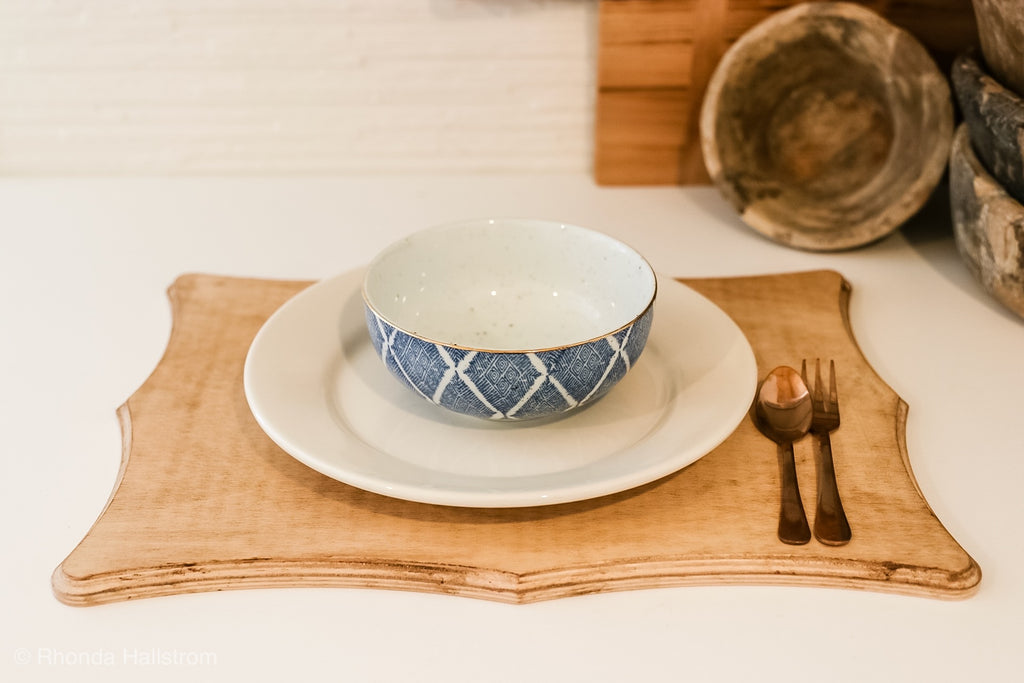 Wood Plate Chargers- Handmade