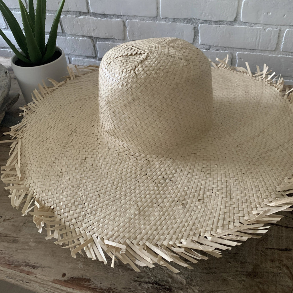 Natural Wicker Wall Hat/ Sun Hat