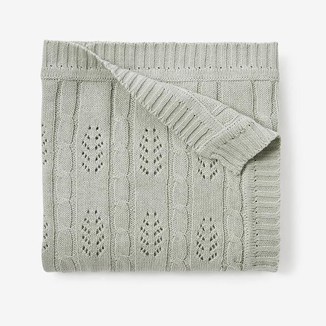 Baby Knit Blanket in Sage
