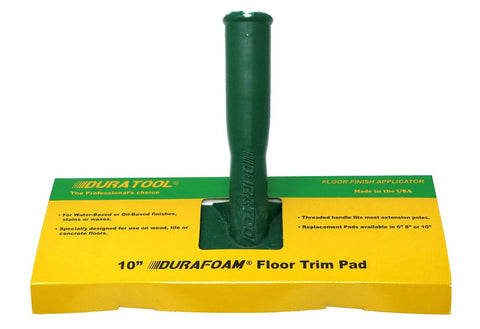 DURATOOL - 10 Inch - DURAFOAM Trim Pad with Handle - 8040