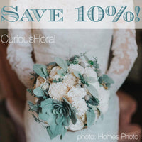 Save 10% on wedding flowers!