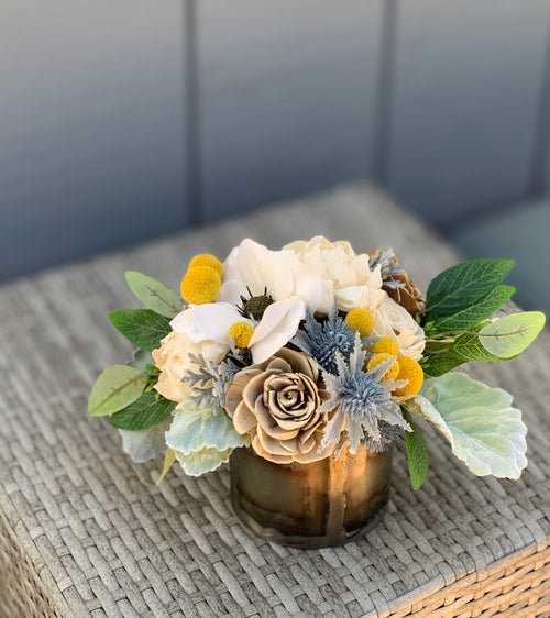 Dried Wildflower arrangement, silk flowers, anemone, Sola Flowers, Birthday Flowers