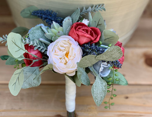 Silk & Sola Flower Succulent Bridesmaid Bouquet