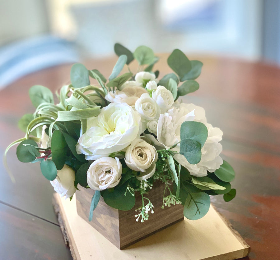 Silk Flower and Eucalyptus Arrangement RENTAL ITEM