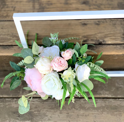 THE CLASSIC- Silk Flower and Eucalyptus Bridal Bouquet RENTAL ITEM