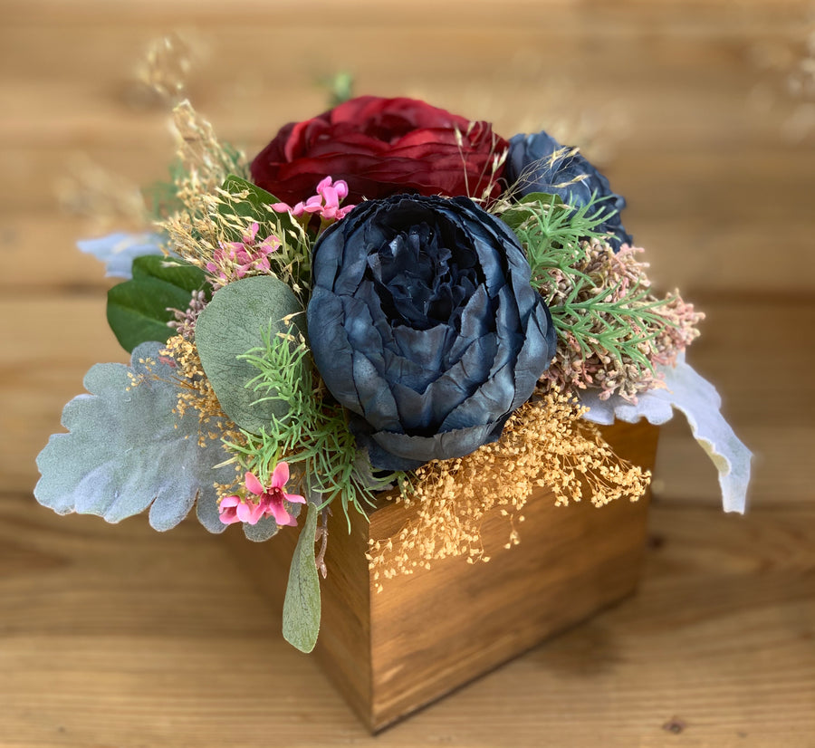 Silk & dried flower arrangement, home decor, wedding flowers