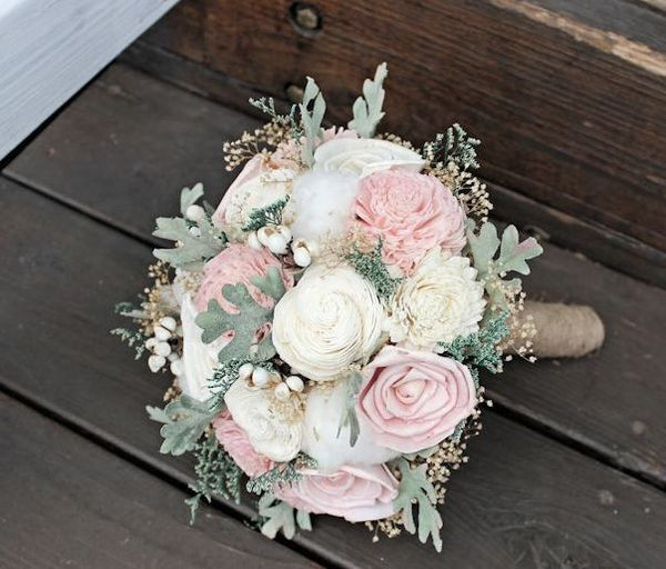 alternative wedding bouquet luxe collection ivory blush