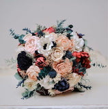 Faux Succulents, Dusty Miller, Sola Flowers, Wedding Flowers
