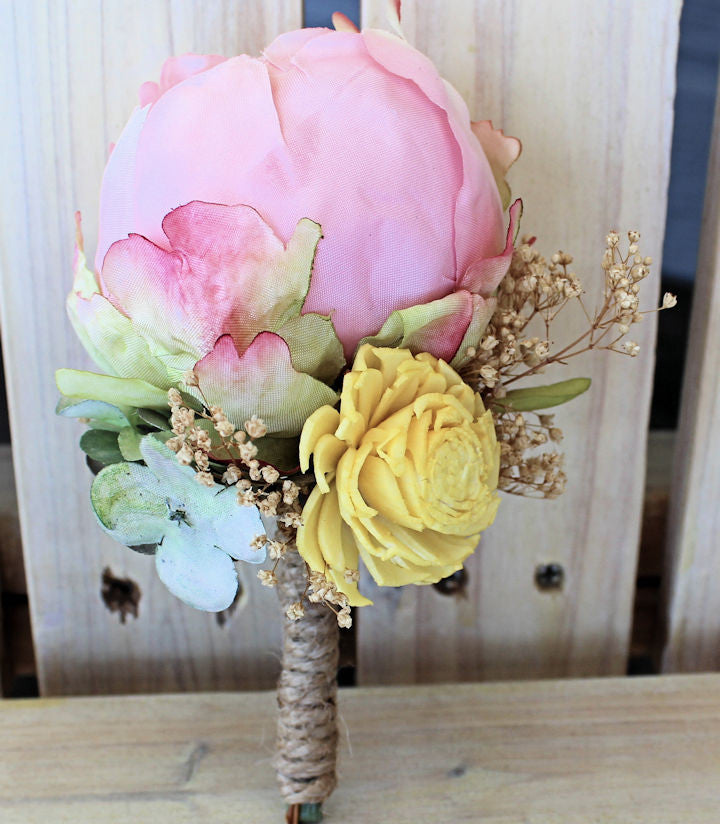 Peony boutonniere groom groomsmen father of the bride silk peony boutonniere groom groomsmen father of the bride silk flowers sola mightylinksfo