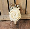 Sola Flower Boutonniere- Groom Wedding, Buttonhole, Groomsmen, Wedding Flowers