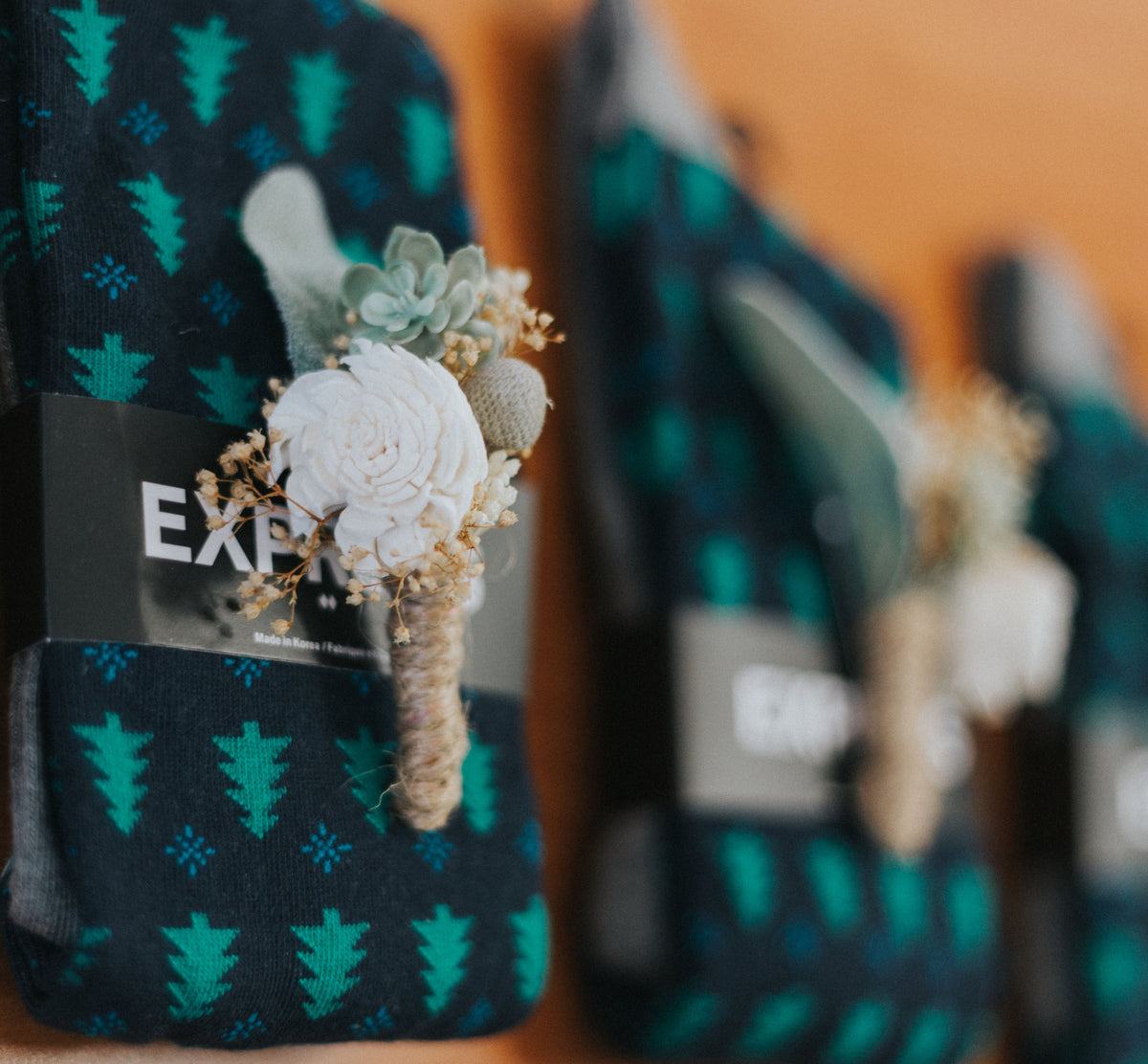 Grooms Boutonniere- Luxe Collection, Sola Flowers, Succulent, Groomsmen, Buttonhole