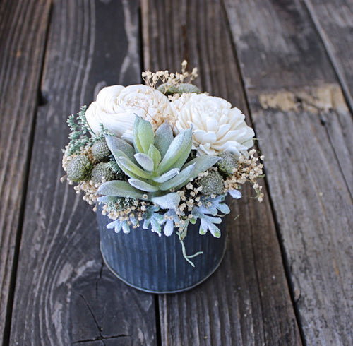 Small Sola Wood Flower Arrangement, Wedding Reception Centerpiece, Home Decor