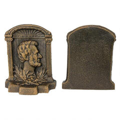 Abraham Lincoln (1809-1865) Cast Iron Sculptural Bookends