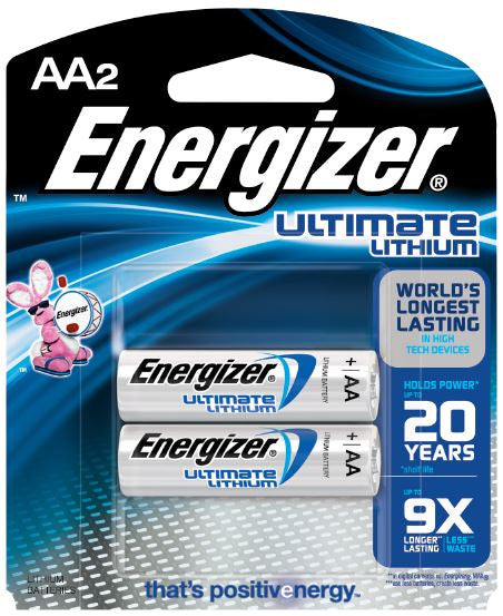 Energizer AA Ultimate Lithium Batteries - 2 Pack