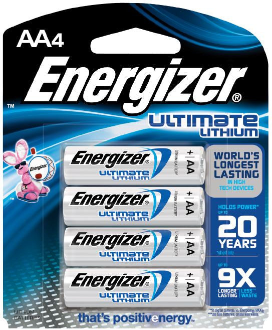 Energizer AA Ultimate Lithium Batteries - 4 Pack