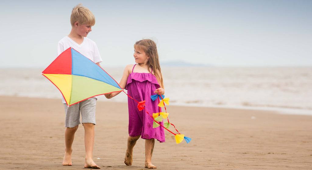 Beach toys games kites