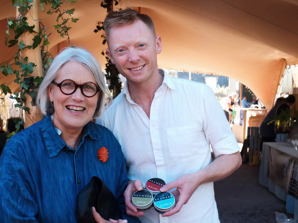 Darina Allen of Ballymaloe meeting Paul O'Connor of This is Seaweed
