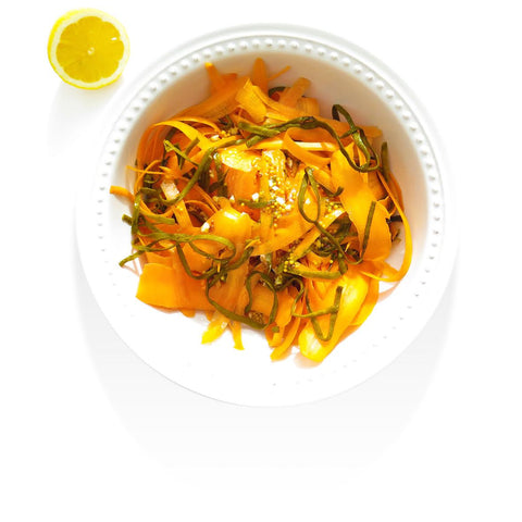 Seaweed Recipes - Sea Spaghetti and Carrot Salad