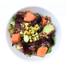 dulse and sweet potatoe quinoa bowl - seaweed recipe