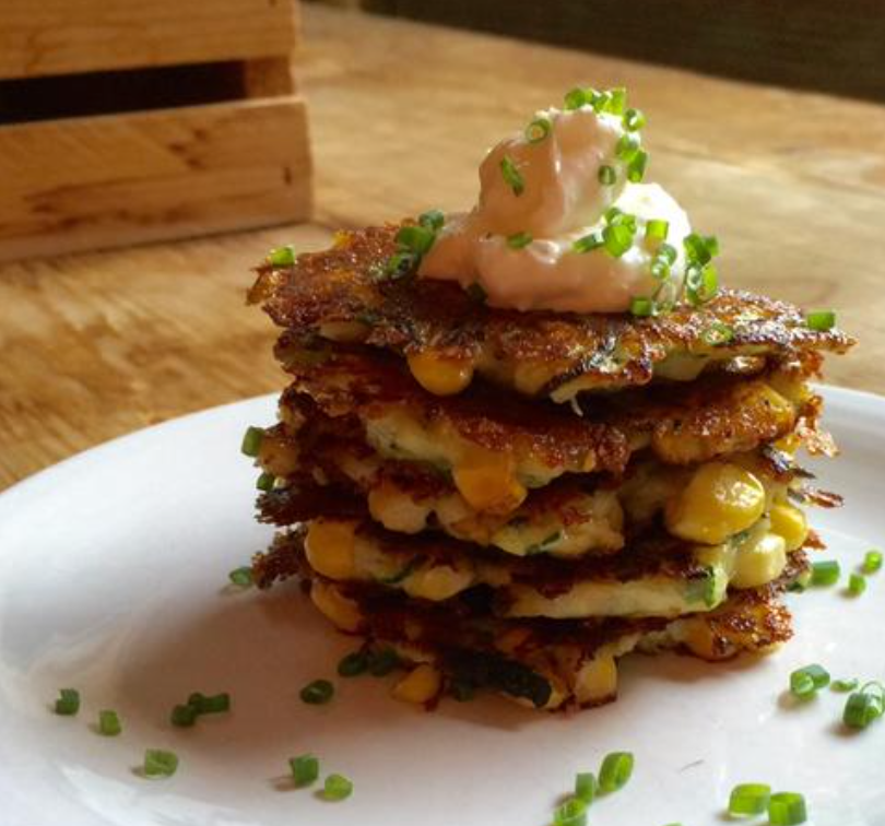 The Perfect Zucchini and Sweet Corn Fritters