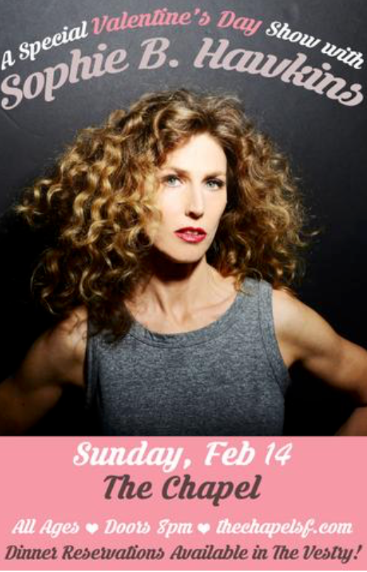 Win Tickets to Sophie B Hawkins Concert in San Francisco