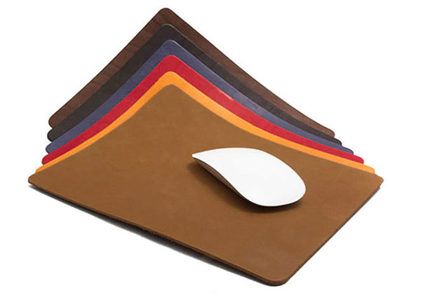 Mouse Pad in Red, Blue & Cubre Libre  by La Campagne Du Kraft