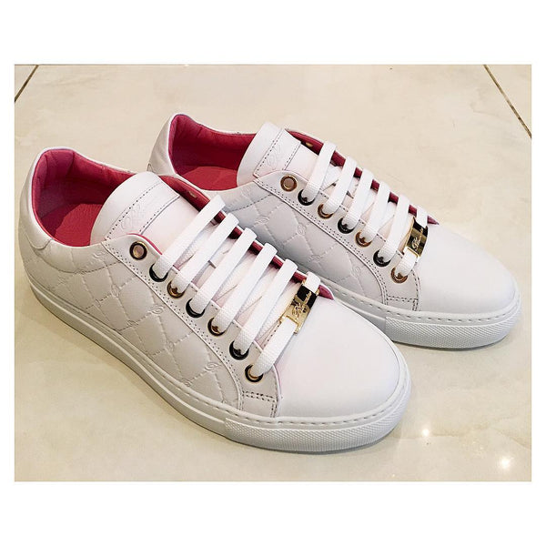 White-laces-leather-sneaker-Blumarine